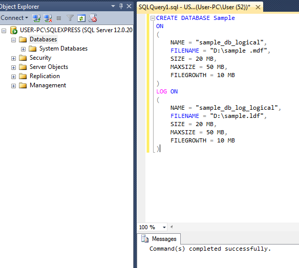 sql sample_screenshot 1