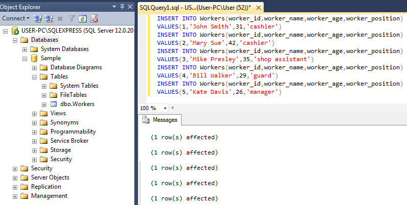 sql sample_screenshot 4
