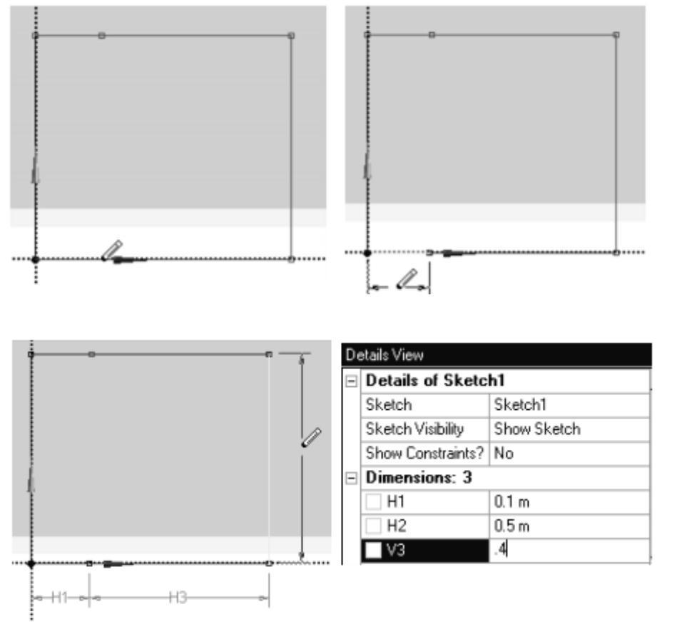mesh dimensions example