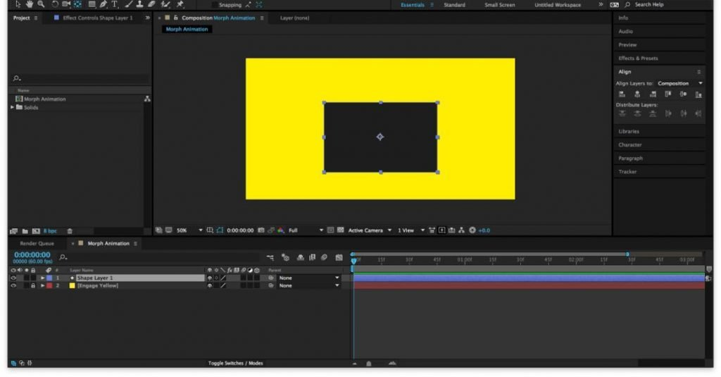 animating shape layers in after effects