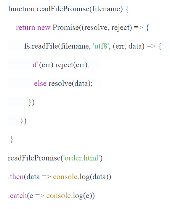 javascript promise example solved