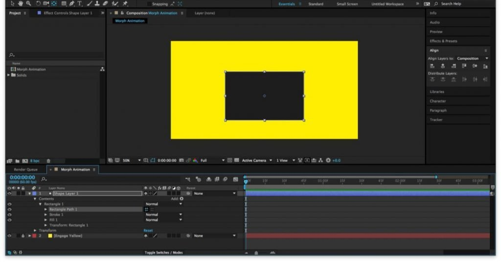 animating shape layers in after effects assignment