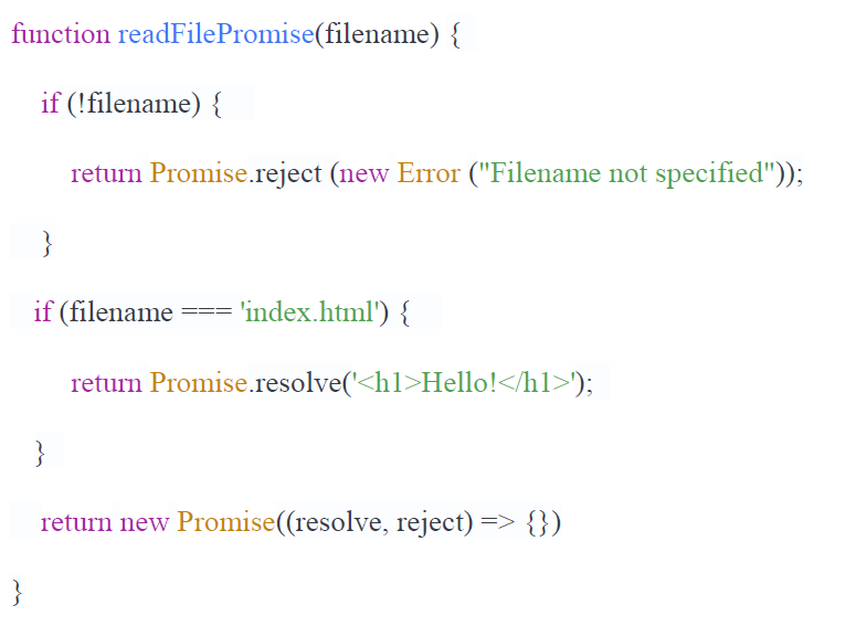 javascript promise example analyzed