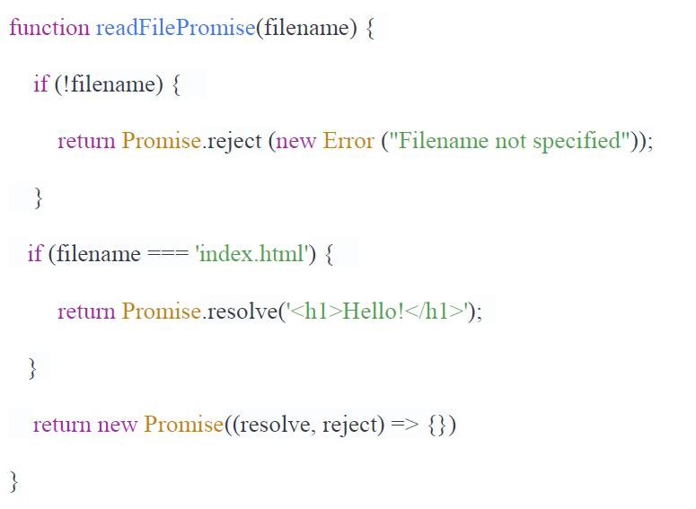 javascript promise example analyzed