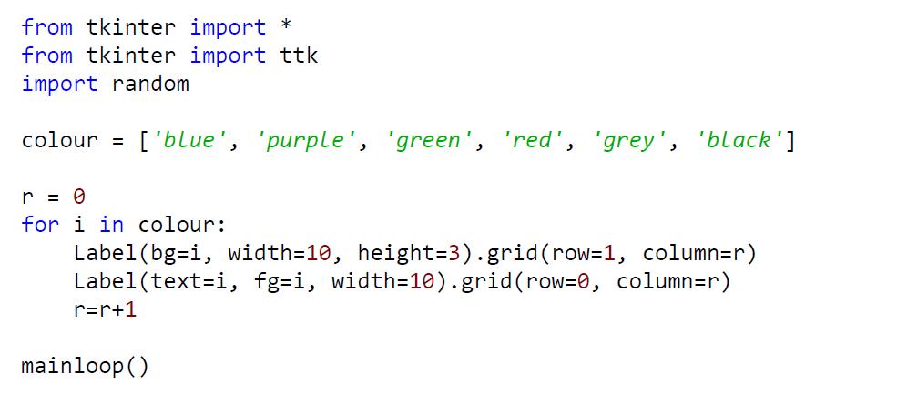 python gui example code