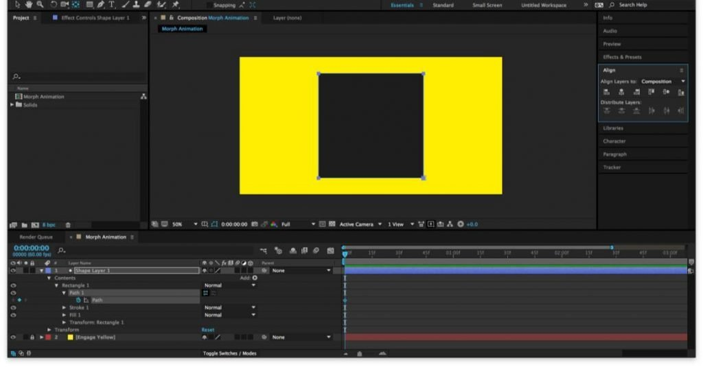 shape layer animation after effects