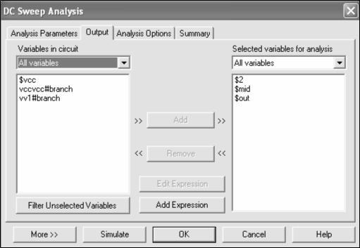 multisim circuit example analyzed