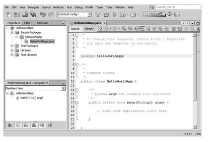 hello world java netbeans