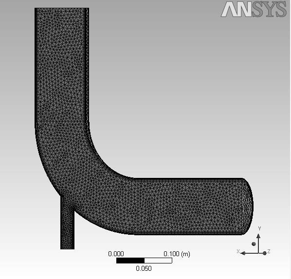 Ansys Fluent Module example analyzed