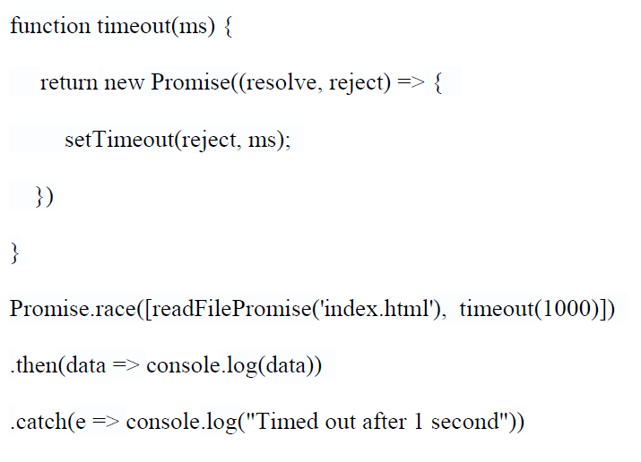 how to use javascript promises
