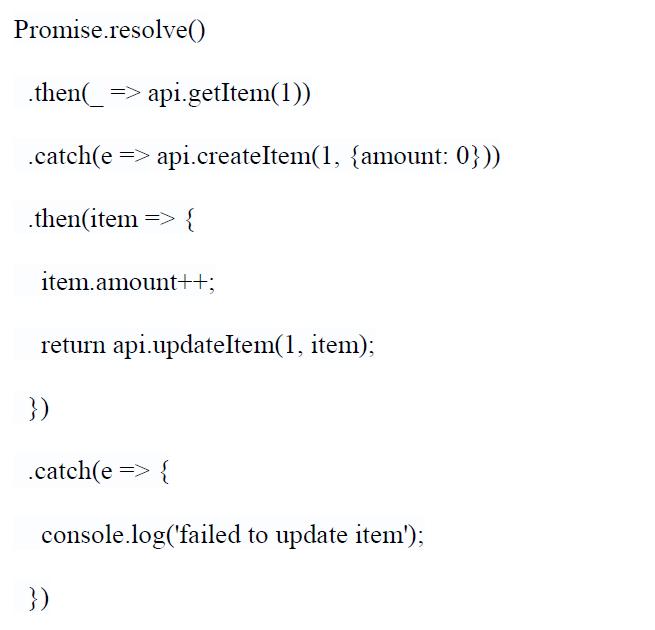 using promises in javascript