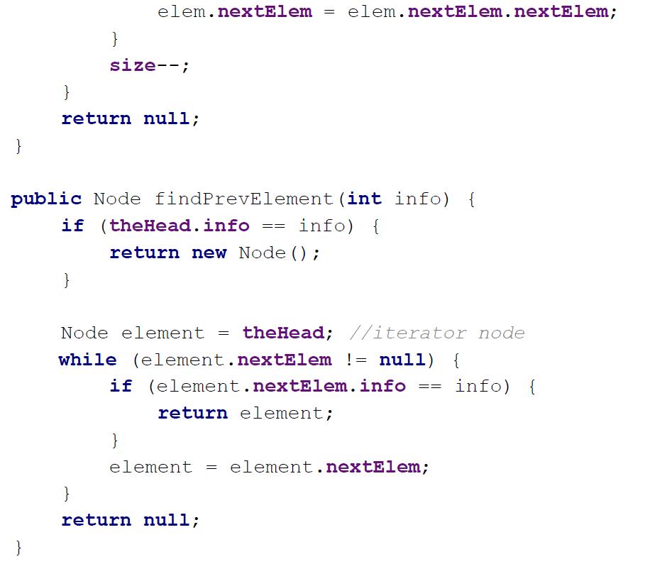 java linked list example code