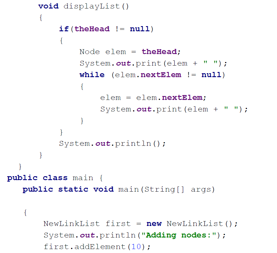 linkedlistnode java example analyzed
