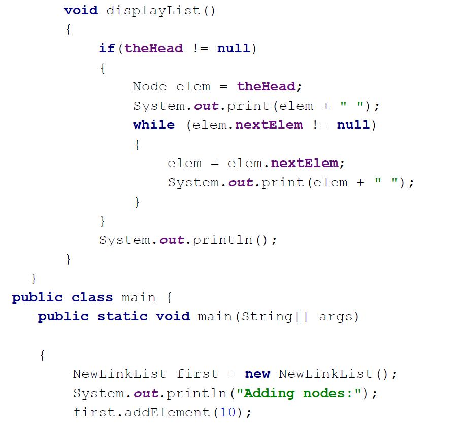 linkedlistnode java example analyzed