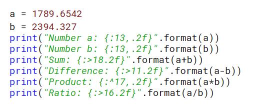 python string format example analyzed