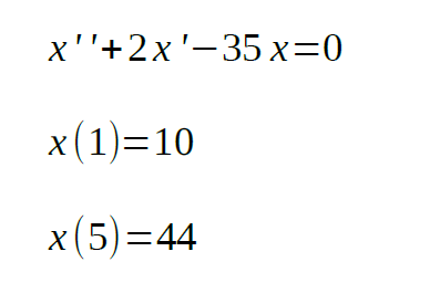 second order differential equation