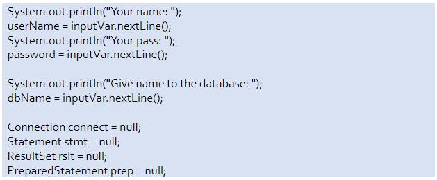 mysql database connection in java