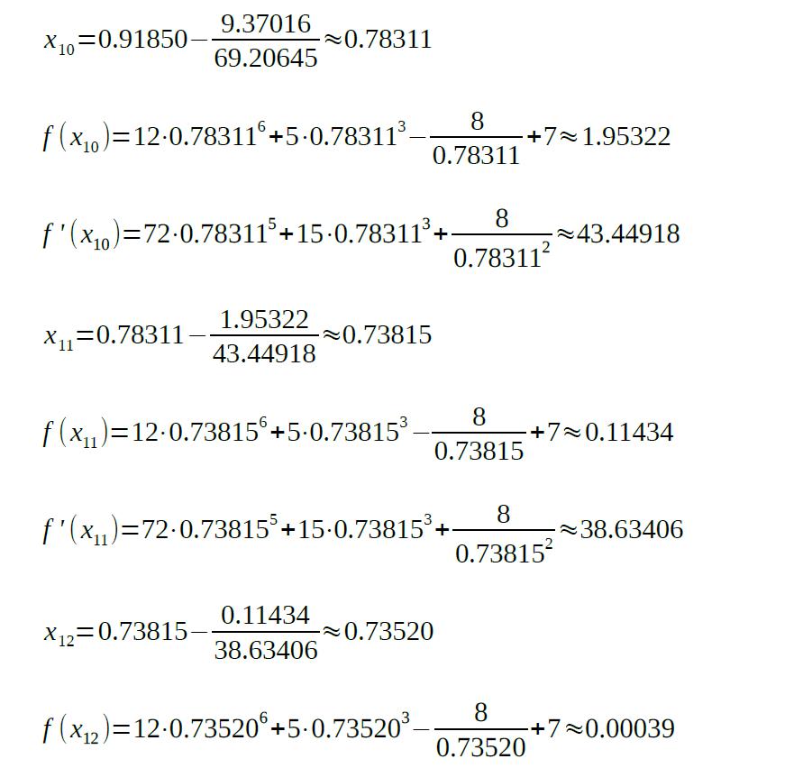 newton raphson method formula example