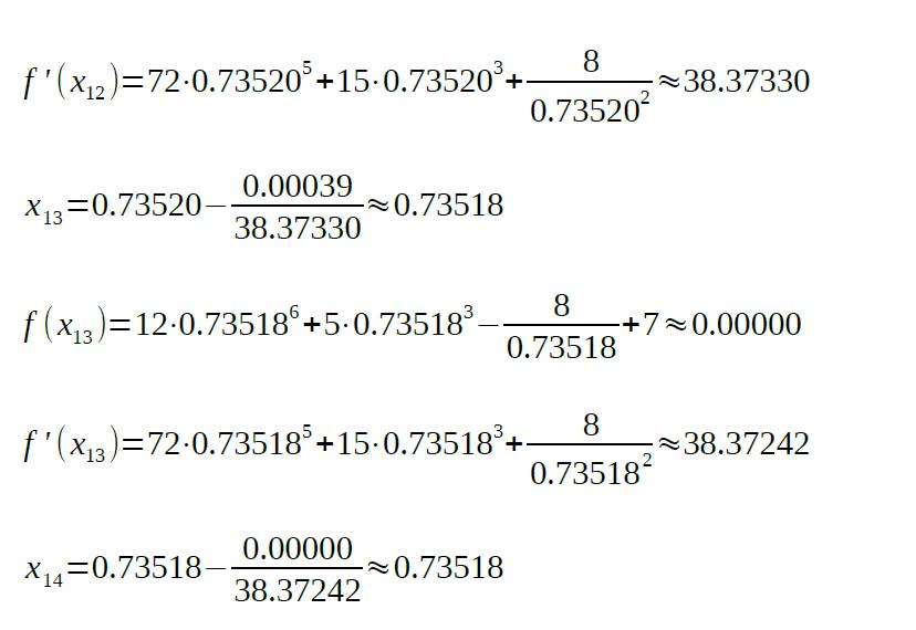 newton raphson method formula sample