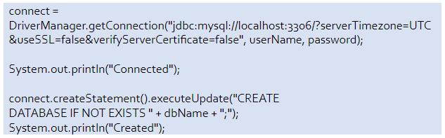 mysql database connection in java sample