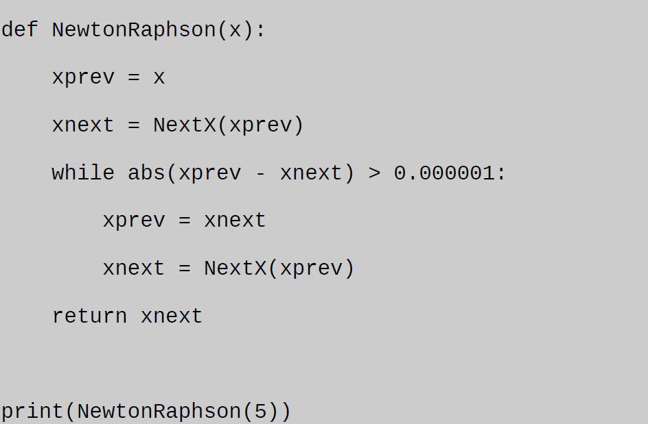 newton raphson method python