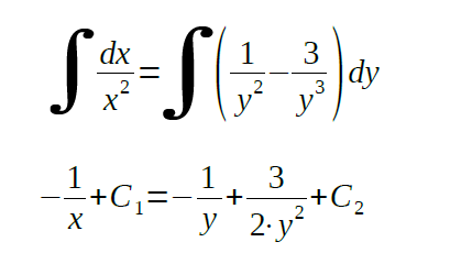 separable differential equations examples analyzed