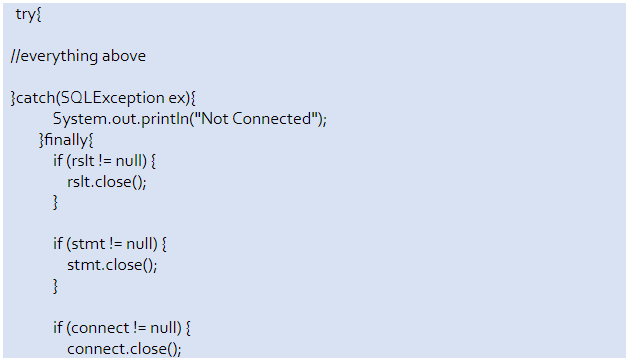 java connect to mysql database example of assignment