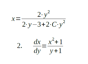 separable differential equations problems and solutions