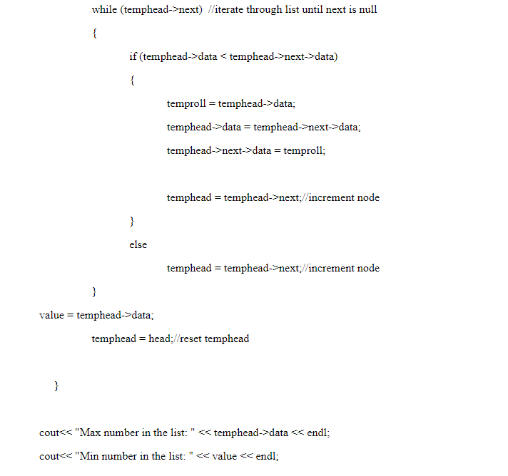 linked lists in c++ assignment