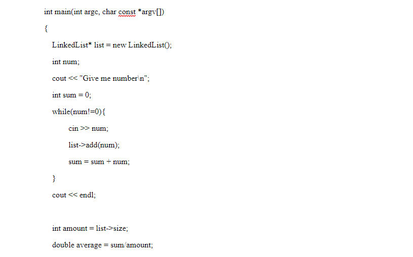 linked lists c++ example