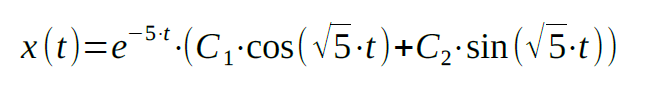 second order differential equation example analysis