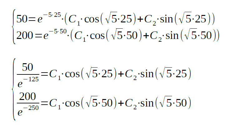 second order differential equation task analyzed