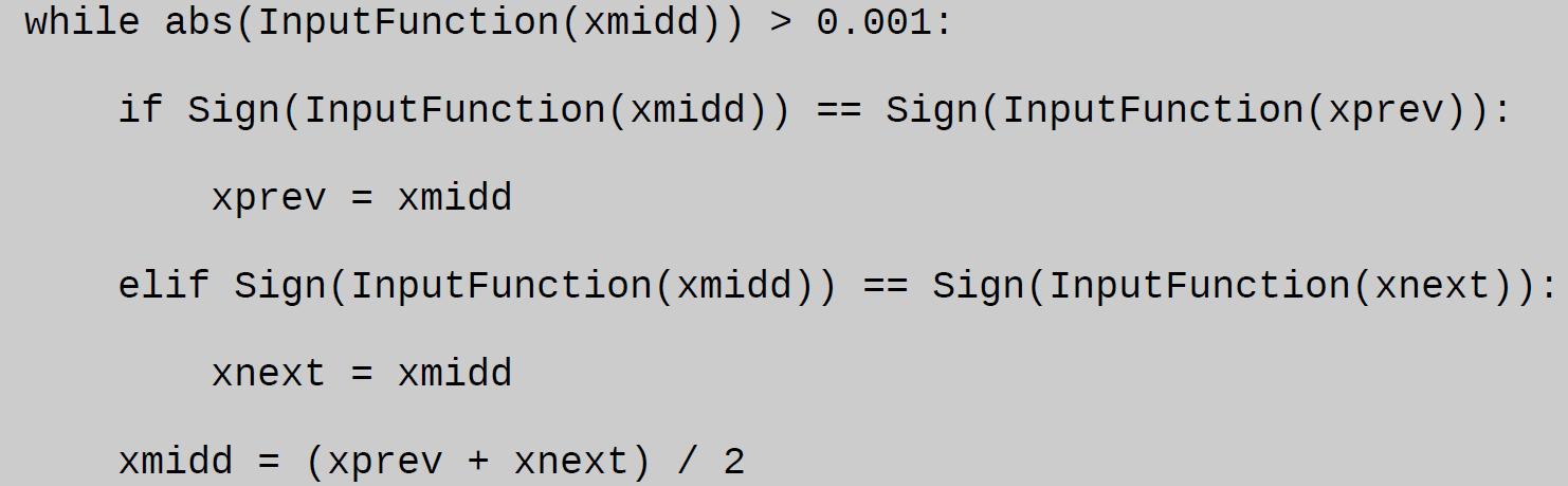 bisection method python assignment sample
