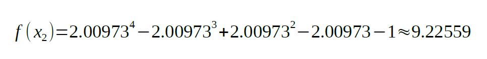 secant method formula sample