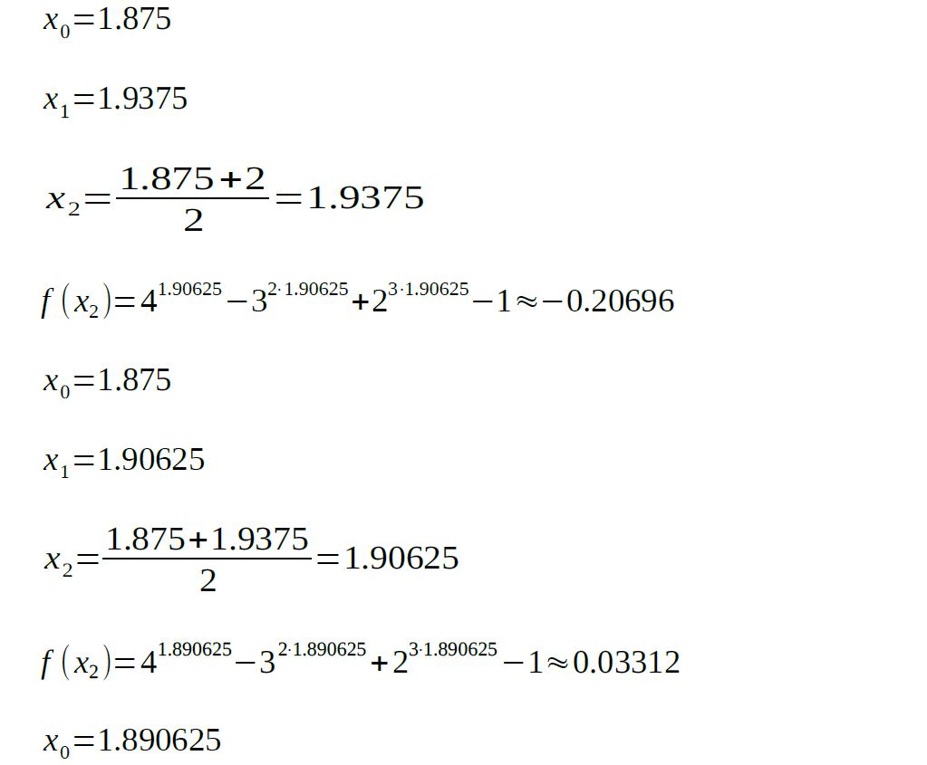 bisection method sample analyzed