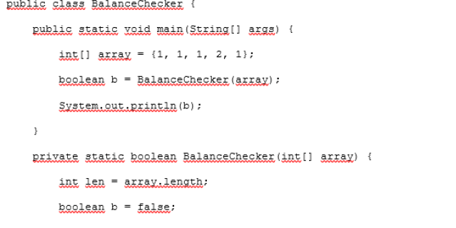 Balance Checker example