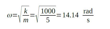 period of oscillation equation sample