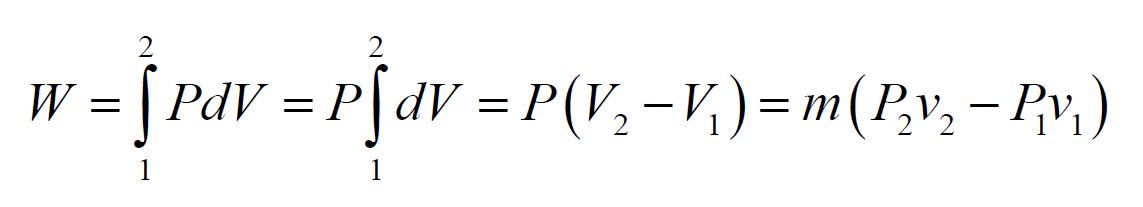 work equation thermodynamics sample