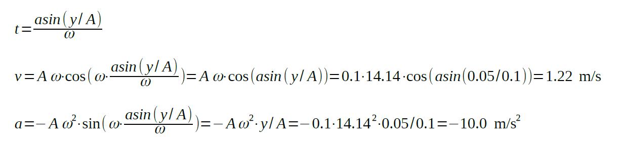 amplitude of oscillation equation example